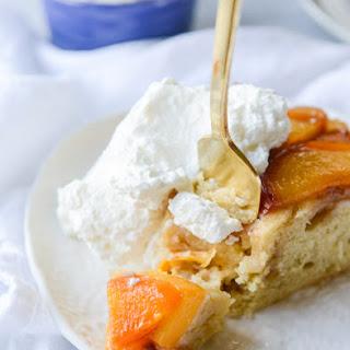 Bourbon Brown Sugar Peach Upside Down Cake