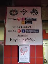 Photo: Metro naar het Koning Boudewijn Stadion (voormalig Heizel Stadion)