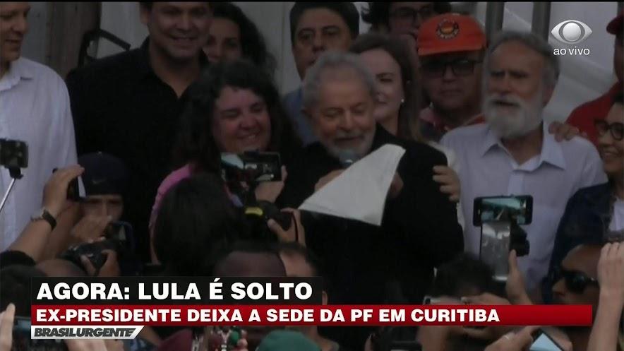 Cobertura da soltura de Lula na Band