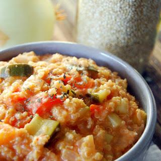 Crockpot Tomato & Vegetable Quinoa Risotto.