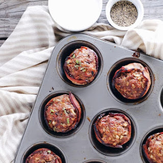 Mini Bacon Wrapped Meatloaf (Paleo, GF + Dairy-Free).
