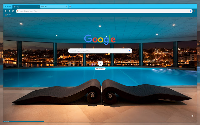 Stylish furniture pool