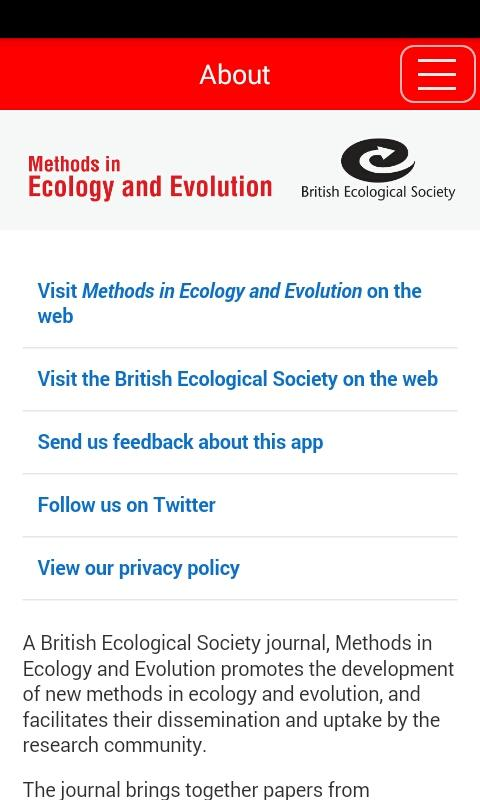 Methods in Ecology & Evolution- screenshot