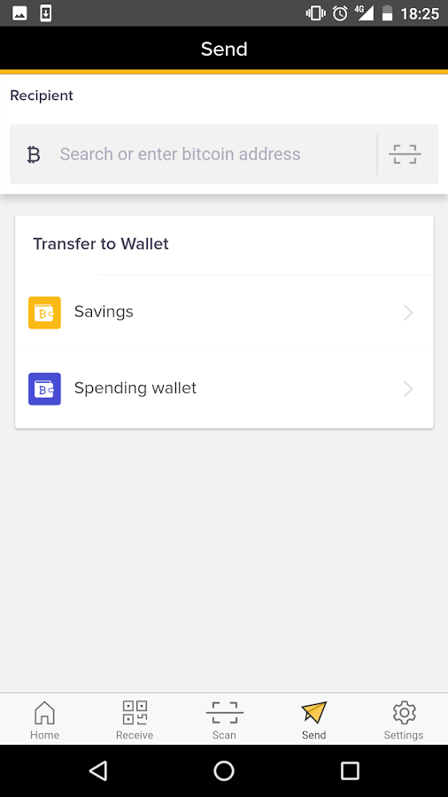 Bitcoin Wallet- screenshot