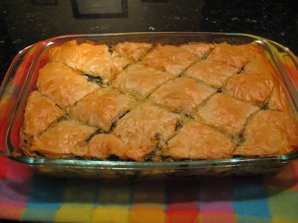 Greek Spinach And Feta Cheese In Phyllo Dough Recipe