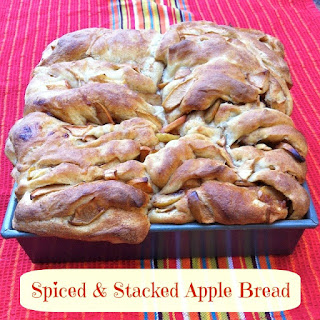 Spiced & Stacked Apple Bread