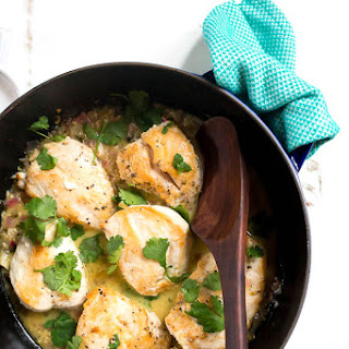 Coconut Lime Skillet Chicken.