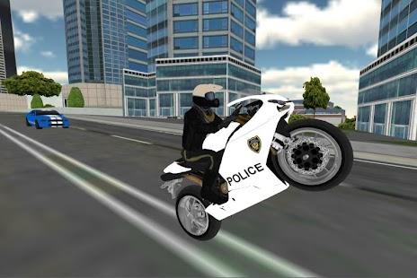 Police Moto Bike Simulator 3D - náhled