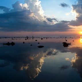 Reflection by Jeremy Mendoza - Uncategorized All Uncategorized ( water, reflection, sky, nature, landscape,  )