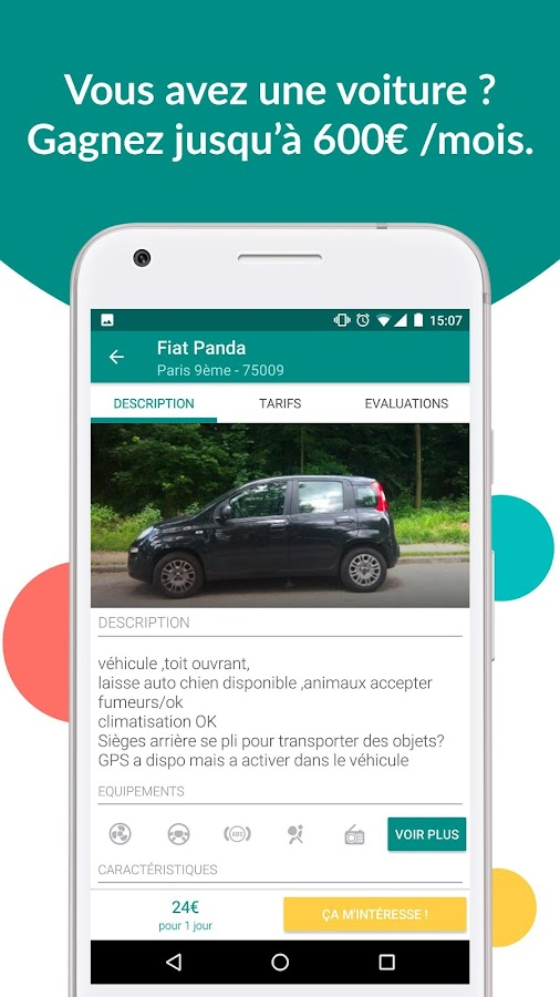 ouicar location de voiture android apps on google play. Black Bedroom Furniture Sets. Home Design Ideas