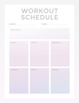 Gradient Workout Schedule - Weekly Planner item