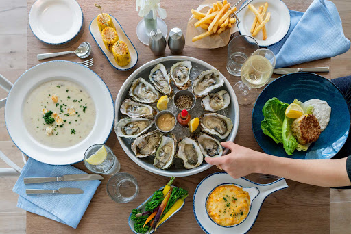 Try some fresh oysters, New England clam chowder or Maryland crab cake at Hooked, a new seafood restaurant on Symphony of the Seas.