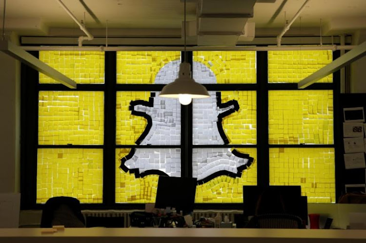 An image of the Snapchat logo.  Picture: REUTERS