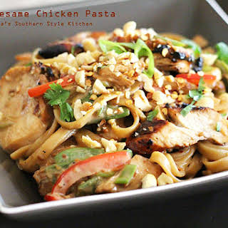 Asian Sesame Chicken Pasta.