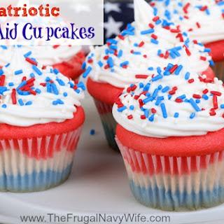 Patriotic Kool Aid Cupcakes