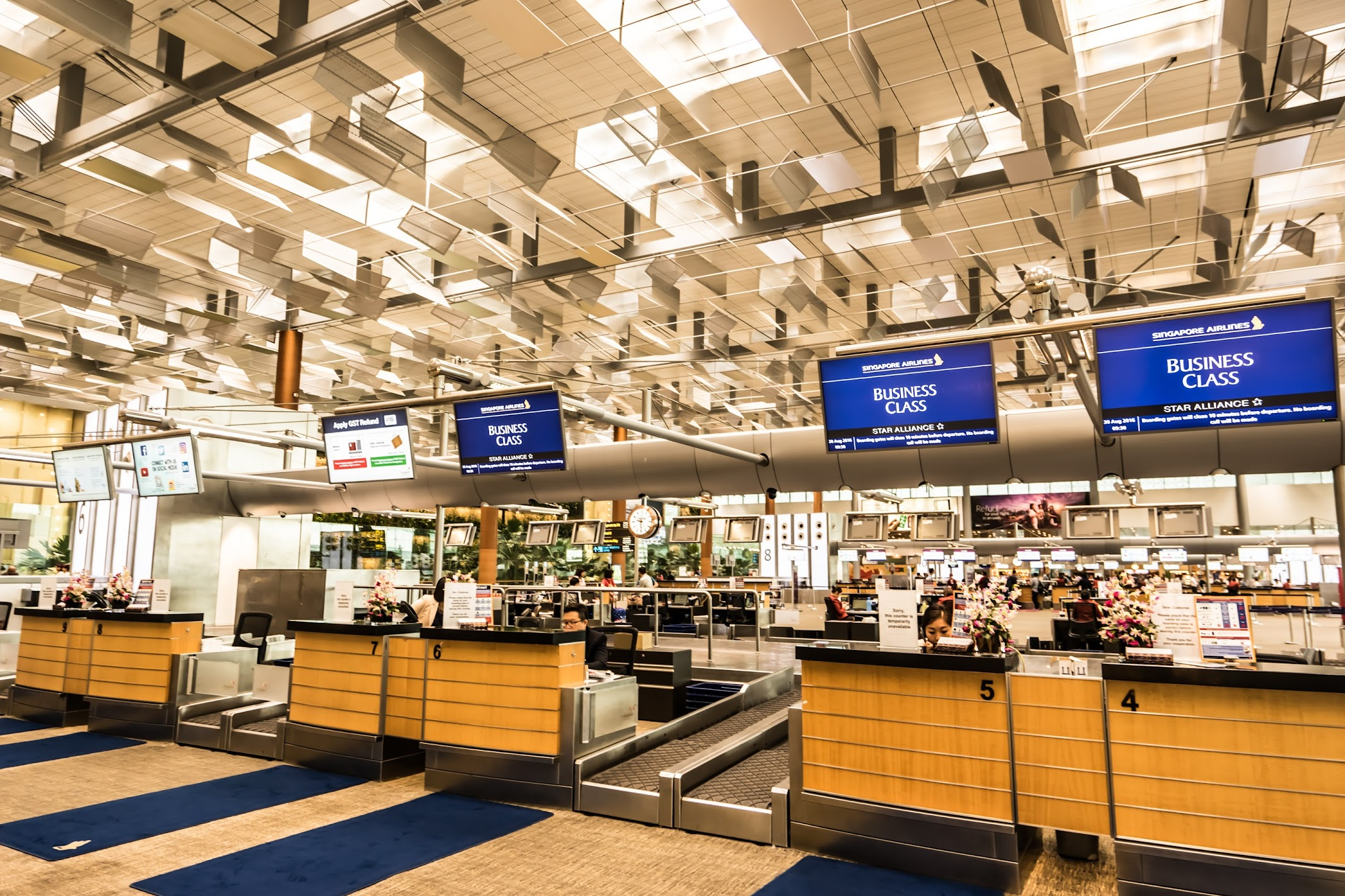 シンガポール航空 チャンギ空港 カウンター