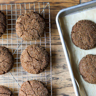 {Paleo} Chunky Ginger Spice Cookies (gluten free, grain free, dairy free, egg free, *nut free, soy free, vegan).