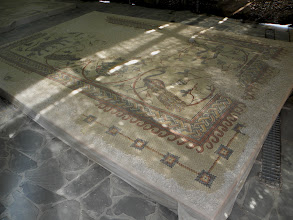 Photo: floor from the church dedicated to Mose on Mount Nebo