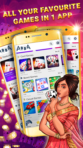 Adda : Rummy, Blackjack, Poker, Ludo, Carrom apkmartins screenshots 1