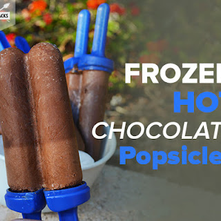 Frozen Hot Chocolate Popsicles.