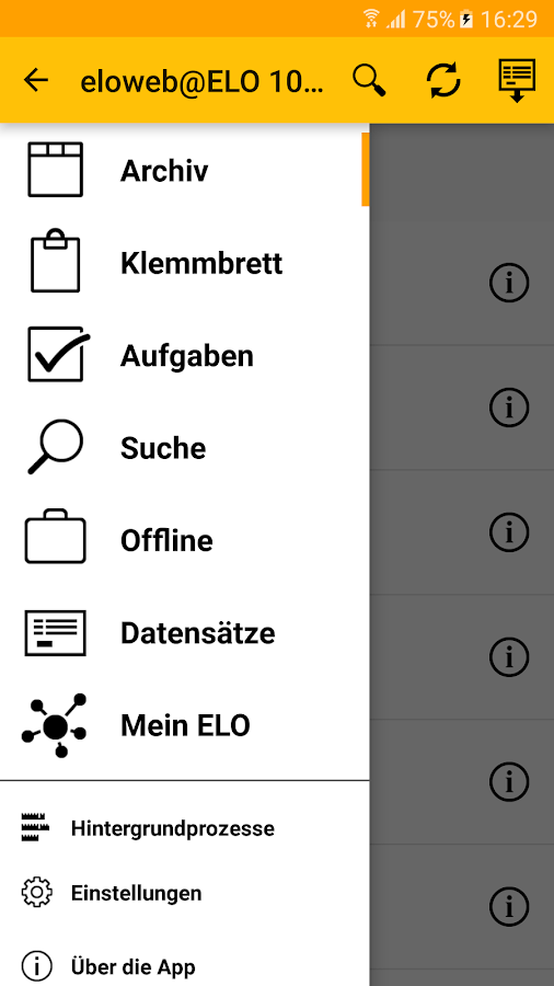 ELO 10 for Mobile Devices – Screenshot