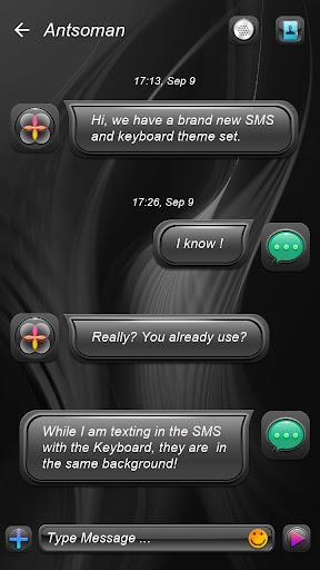 (FREE) GO SMS DARK THEME Screenshot