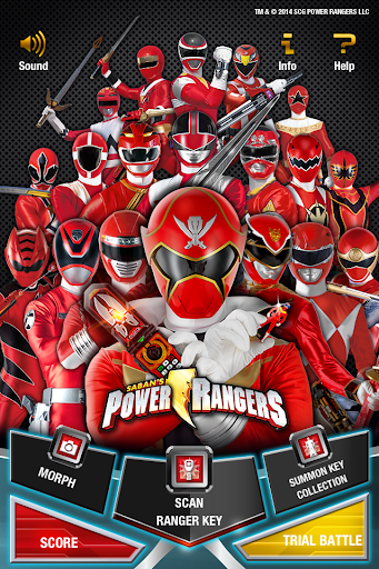 POWER RANGERS KEY SCANNER screenshot 1