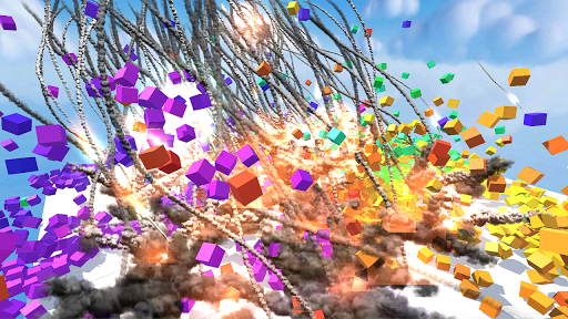 CUBE Physics Simulation Screenshot