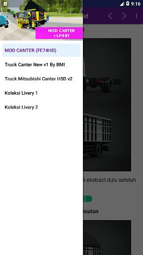 Mod Bussid Truck Canter (Baru + Livery) 2.0 screenshots 2