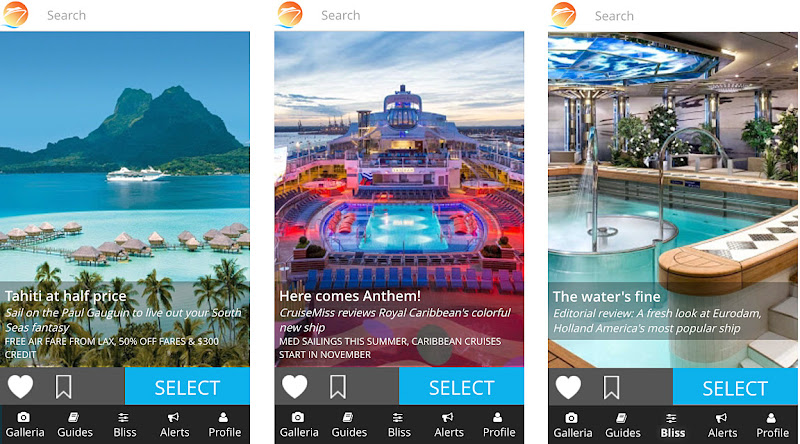 The Cruiseable app on the iPhone 6.