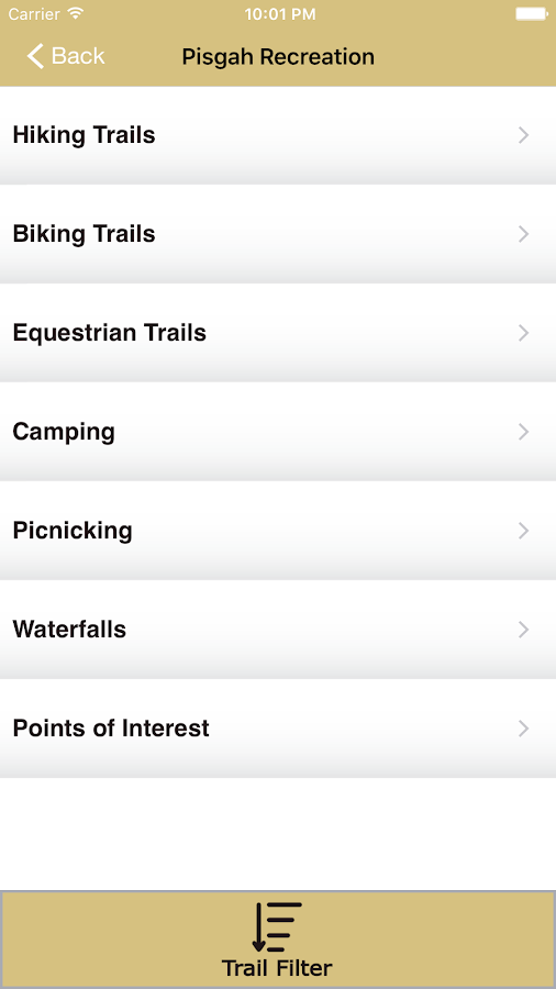 Explore Pisgah App- screenshot
