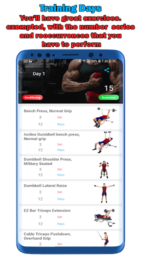 Fitness Workouts 30 Days: Routines Gym Pro screenshot 3