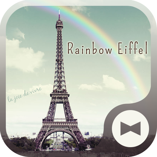 Wallpaper Rainbow Eiffel Theme Icon