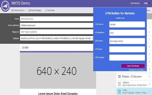 UTM Builder for Marketo