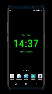 Clock on Homescreen  Live Wallpaper