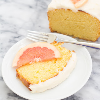 Grapefruit Ricotta Cake with Cream Cheese Frosting.