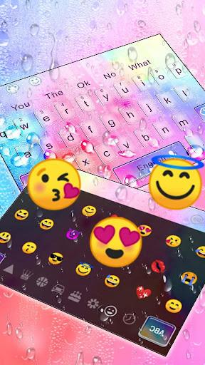 Colorful Water Drop Keyboard Theme ss3