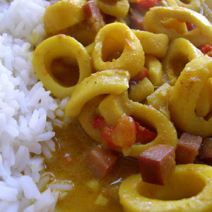 Coconut Curry with Squid