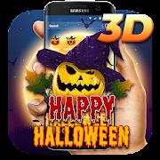 3D Halloween Kürbis-Thema