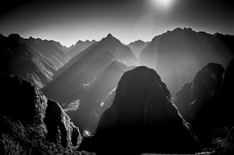 Photo: Layers  One of the views in Machu Picchu and some lovely light rays to make things a little more interesting. I loved the layers of mountain in this view.  #machupicchu