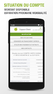 Banque Casino Capture d'écran