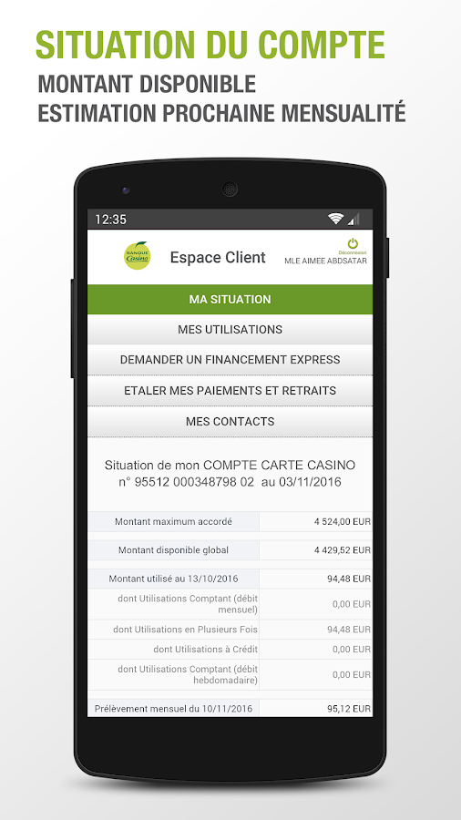 Banque Casino- screenshot