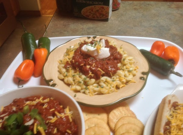 WHEN DONE assemble and serve as desired. Chili Mac adding your favorite condiments.