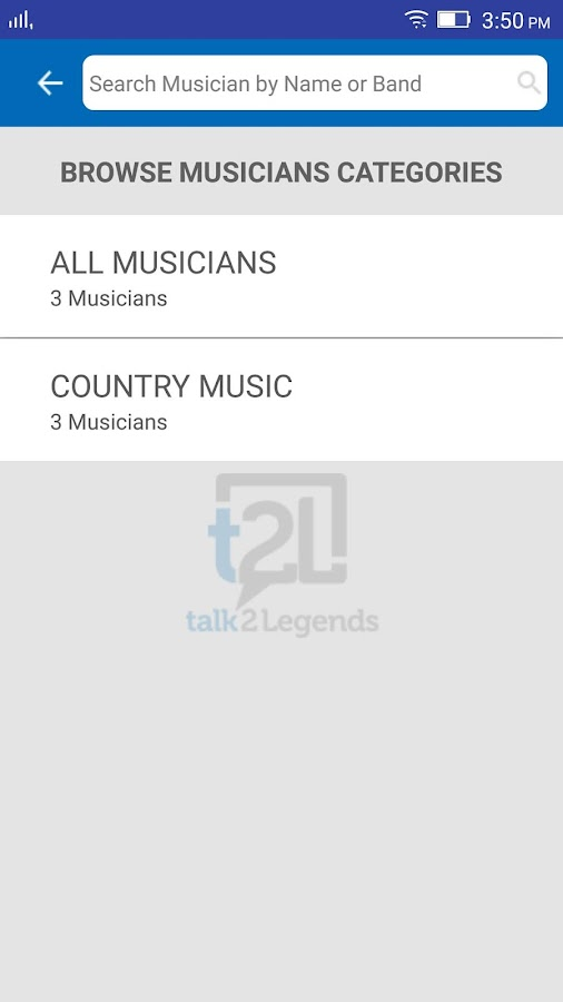 talk2Legends, t2L- screenshot