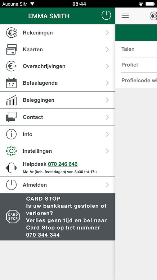 Nagelmackers Mobile Banking- screenshot