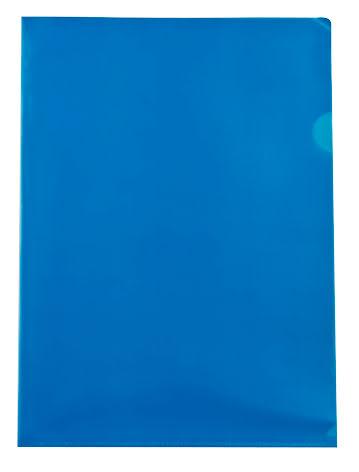 Mapp A4 PP 0,18 blå 100/fp