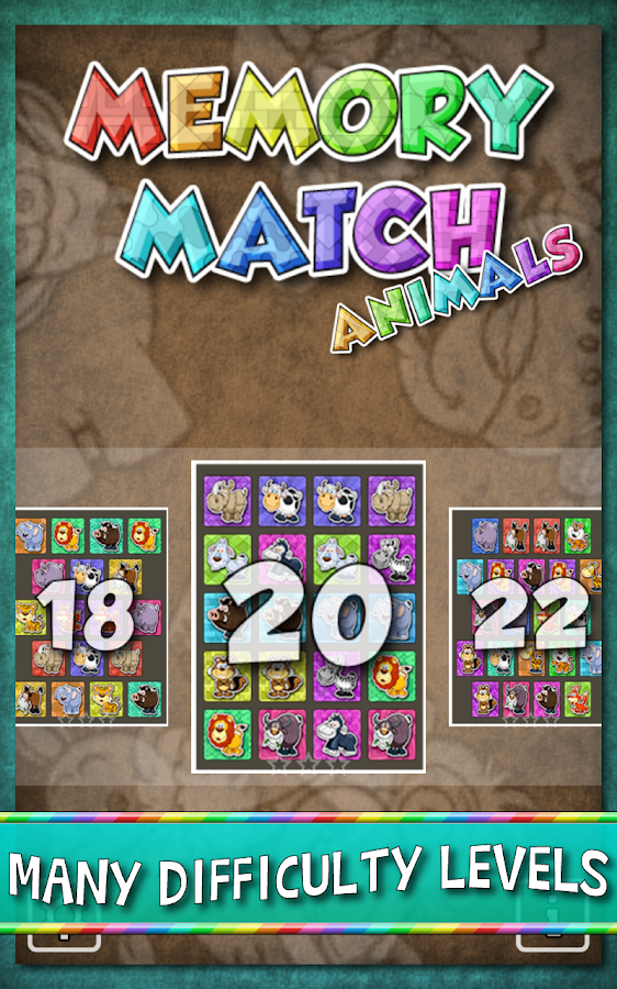 Kids Memory Match Animals Game- screenshot