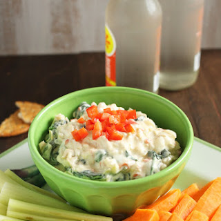 Skinny Greek Yogurt Spinach and Artichoke Dip.