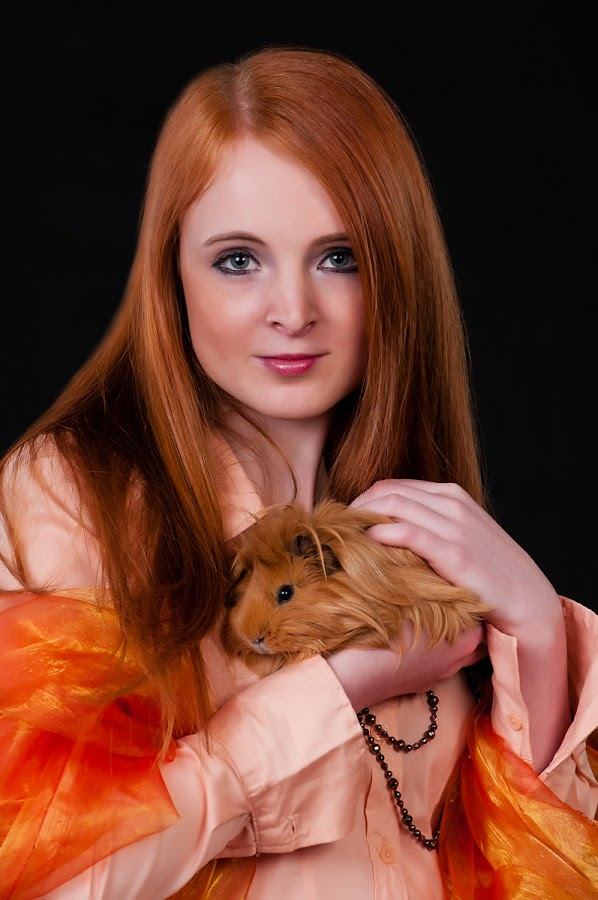 Ginger by Martin Zenisek - People Portraits of Women ( color, ginger girl, guinea-pig, teenage,  )