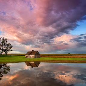 Nebraska Skies by Ken Smith - Landscapes Travel ( sunset, nebraska, clouds, landscape )
